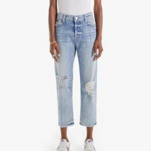 Mother Superior Scrapper Distressed Ankle Jeans 25